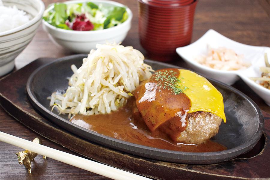 飲めるハンバーグ御膳(チーズデミグラス/200g)